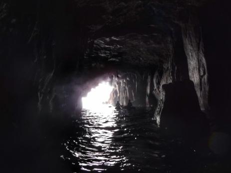 Into the dark cave