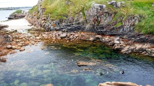 Swimming in the Island lagoon