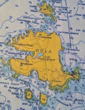 Chart map of Gola Island Donegal